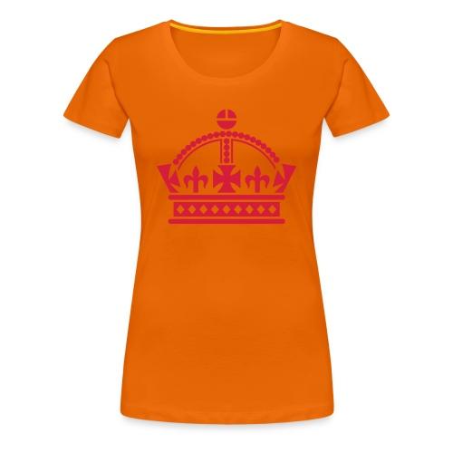 Koninginnedag Kroon2 - Vrouwen Premium T-shirt