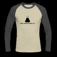 Langarmshirts ~ Männer Baseballshirt langarm ~ Longarm dark