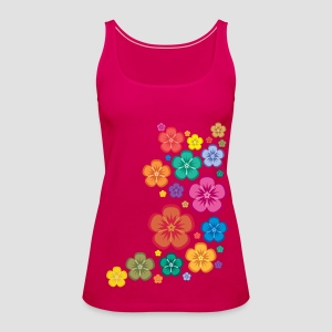 New Age Flower Power Spaghetti Top - Frauen Premium Tank Top