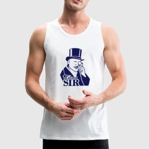 like a sir (gentleman + text, 1c) T-Shirts - Männer Premium Tank Top