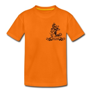 Custom Retro Holland Lion emblem football shirt - Kids' Premium T-Shirt