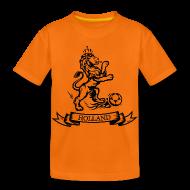 Shirts ~ Kids' Premium T-Shirt ~ Nederlandse retro Oranje voetbal leeuw Kinder shirts