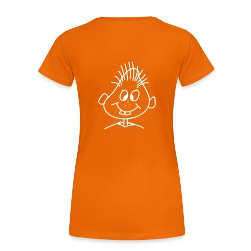 Frauen T-Shirt Druck Rückseite - Frauen Premium T-Shirt