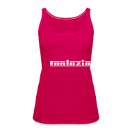 Tops ~ Women's Premium Tank Top ~ Fantazia Spaghetti top with logos to front and back Glow in the dark