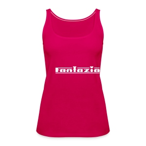 Fantazia Spaghetti top with logos to front and back Glow in the dark - Women's Premium Tank Top