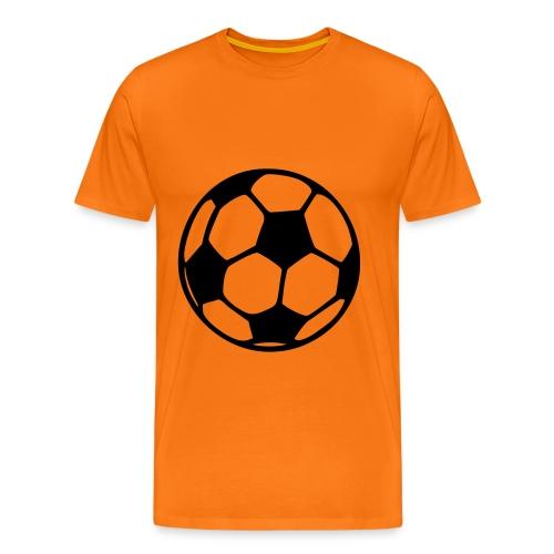 Zwarte Voetbal - Mannen Premium T-shirt