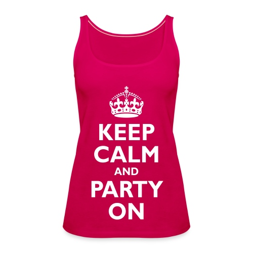 Keep Calm Vest Womens - Women's Premium Tank Top