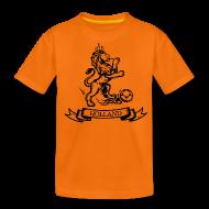 Shirts ~ Teenage Premium T-Shirt ~ Custom Retro Holland Lion footbal shirt