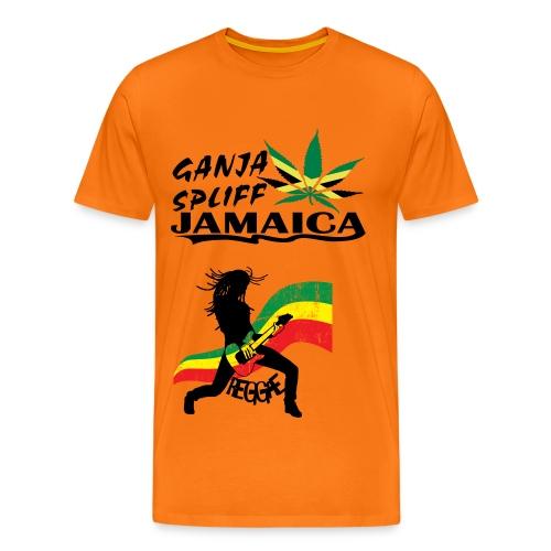 Ganja Spliff - Herre premium T-shirt