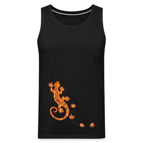 Running Gecko Fire   Männer Shirt ärmellos - Männer Premium Tank Top