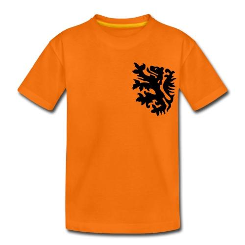 wk kinder t-shirt met retro leeuwtje - Kinderen Premium T-shirt