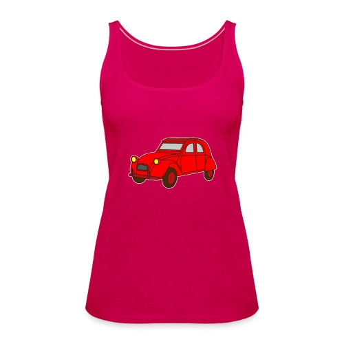 Ente Oldtimer France Frankreich Hot Rod Retro Automobil - Frauen Premium Tank Top