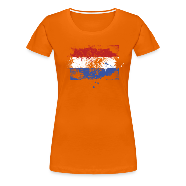 Dutch flag grunge graffiti style Orange pride T-Shirts