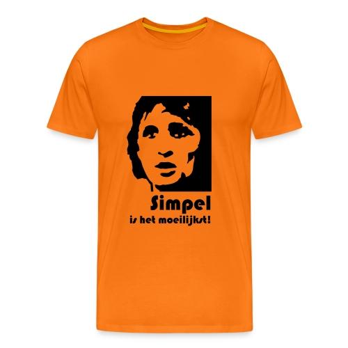 WK Oranje shirt: Simpel is het moeilijkst - Mannen Premium T-shirt