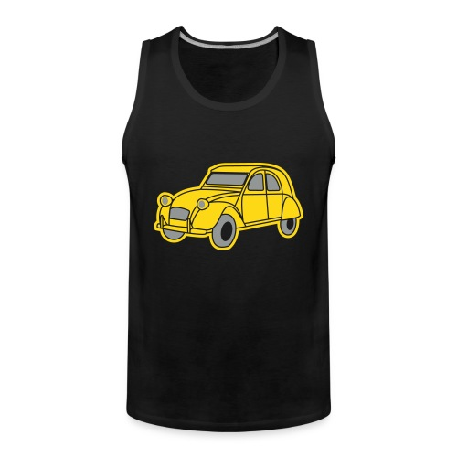 Ente Oldtimer France Frankreich Hot Rod Retro Automobil Duck 1964 - Männer Premium Tank Top