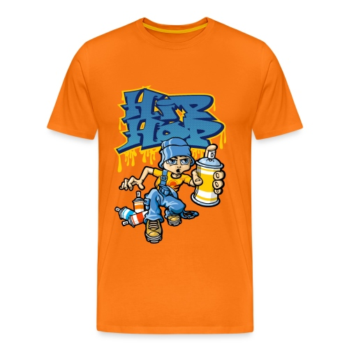 B-boy and hip-hop graffiti - T-shirt Premium Homme