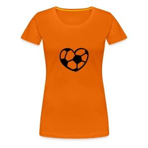Ek t-shirt dames voetbal hart - Vrouwen Premium T-shirt