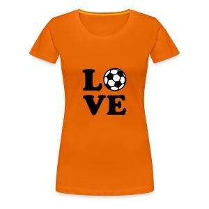 Ek t-shirt dames love voetbal - Vrouwen Premium T-shirt