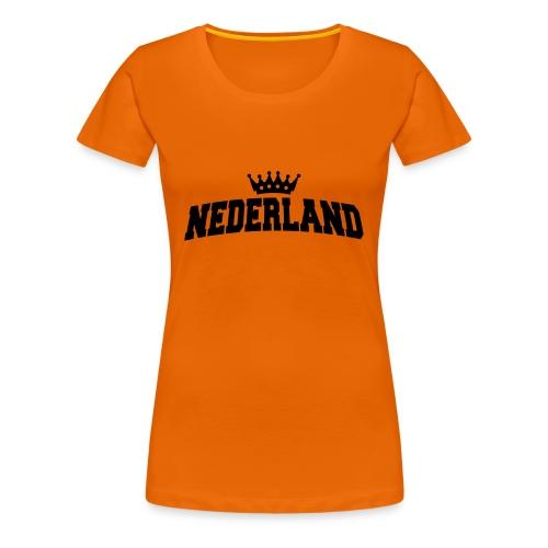 nederland zwart - Vrouwen Premium T-shirt