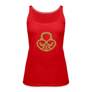 Pop My Lock-Gold Glitter - Women's Premium Tank Top