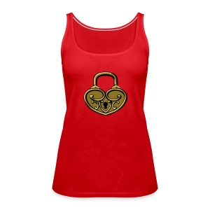 Pop My Lock 3D-Gold - Women's Premium Tank Top