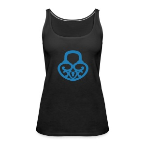 Pop My Lock-Blue Glitter - Women's Premium Tank Top