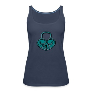 Pop My Lock 3D-Turquoise/Silver - Women's Premium Tank Top