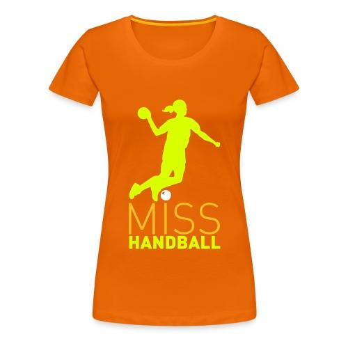 Miss Handball Orange - T-shirt Premium Femme
