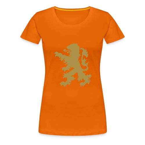 Leeuw in Goud Glitter - Vrouwen Premium T-shirt