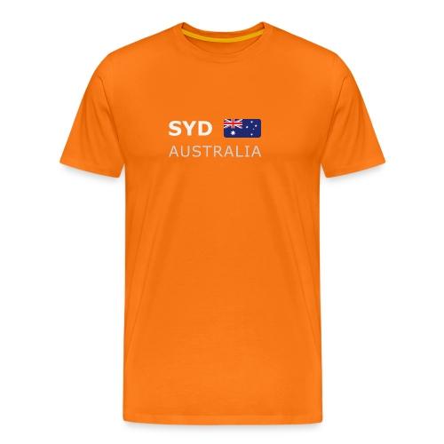 Classic T-Shirt SYD AUSTRALIA white-lettered - Men's Premium T-Shirt