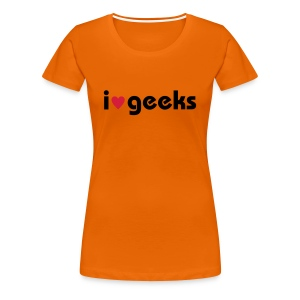 T-Shirt i love geeks - Frauen Premium T-Shirt