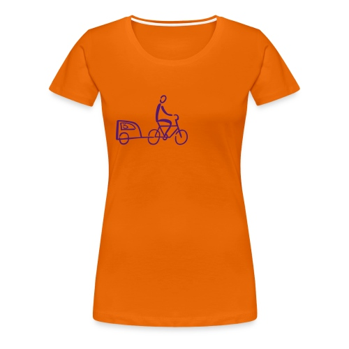 Fahrradhänger mit Hund Shirt - Frauen Premium T-Shirt