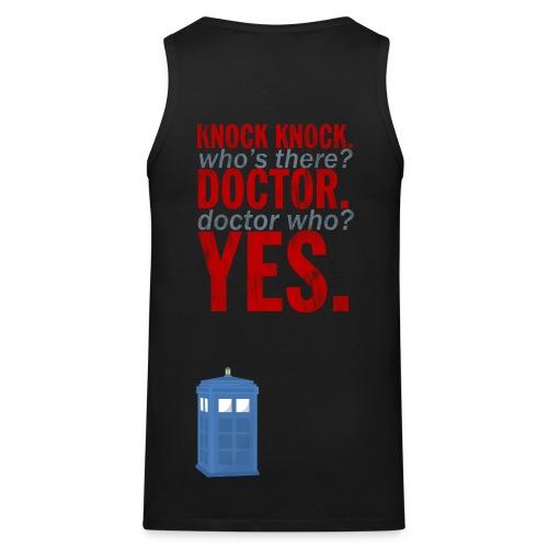 Knock Knock, Doctor Who? - Men's Premium Tank Top