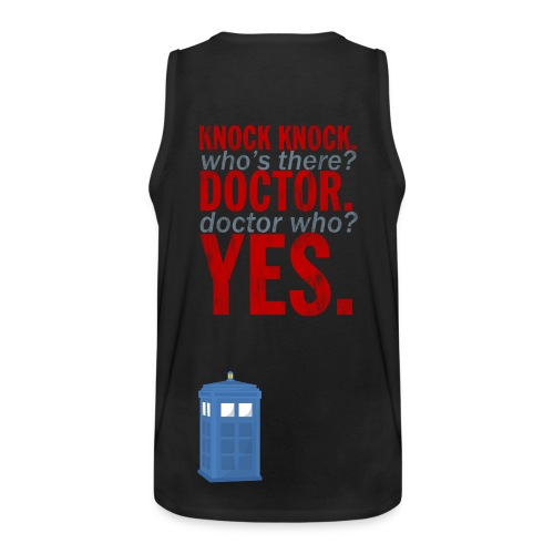 Knock Knock, Doctor Who? - Men's Premium Tank Top
