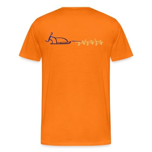 Hundeschlitten Shirt - Männer Premium T-Shirt