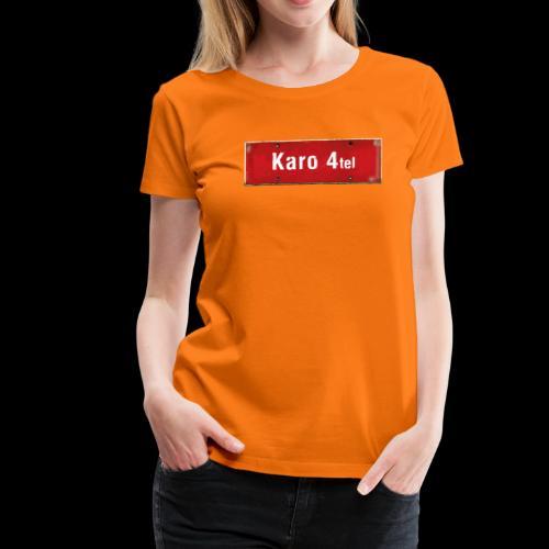 Mein Hamburg, mein Karo 4tel, mein Kiezshirt - Frauen Premium T-Shirt