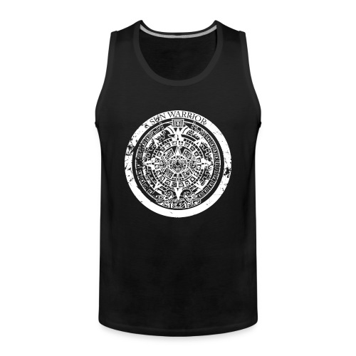 Sun Warrior t-shirt with Mayan calendar - Men's Premium Tank Top