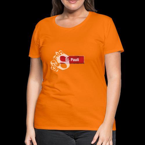 HH-St.Pauli-Schild mit Schmuck-Initial - Frauen Premium T-Shirt