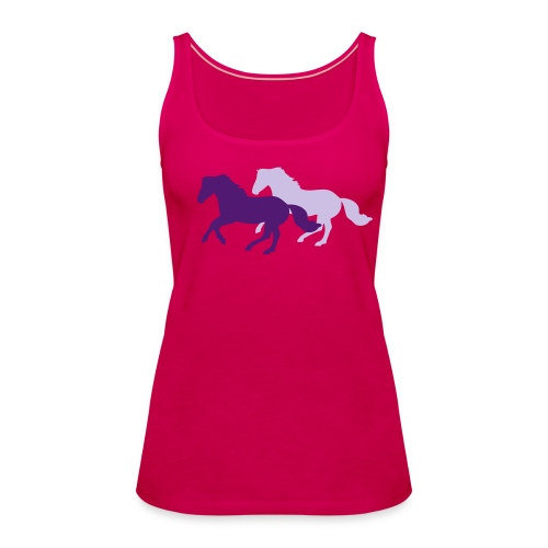 Galloping Horses Summer Top - Women's Premium Tank Top