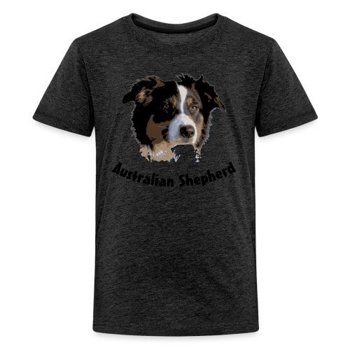 tier hunde t-shirt australian shepherd aussie hund hüte hüten border collie agility - Teenager Premium T-Shirt
