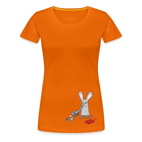 Rüsselgonz mit Pilzen - Frauen Premium T-Shirt
