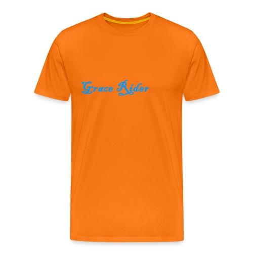 GRACE RIDER T-Shirt (blau auf orange) MEN - Männer Premium T-Shirt
