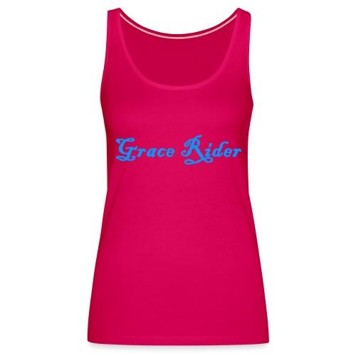 GRACE RIDER Tanktop (blau auf pink) WOMEN - Frauen Premium Tank Top