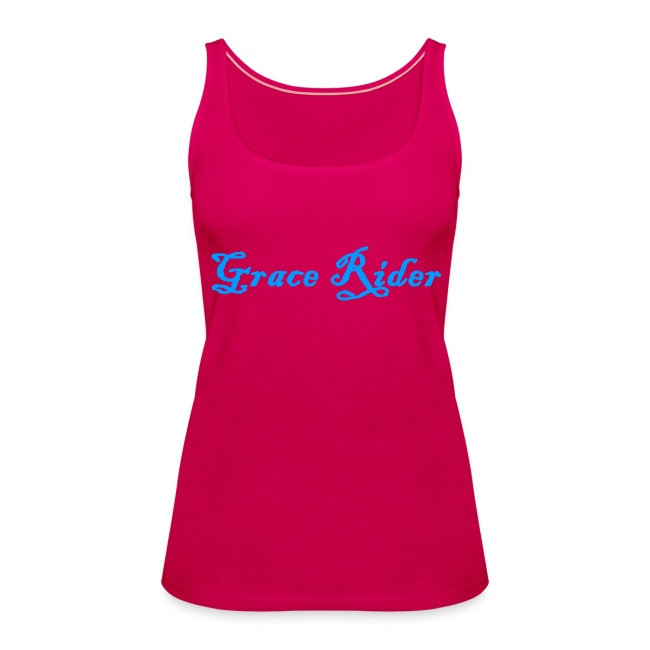 GRACE RIDER Tanktop (blau auf pink) WOMEN