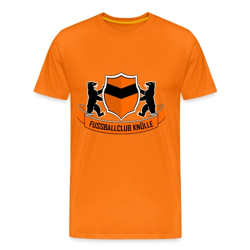 Logo-Shirt Orange - Männer Premium T-Shirt