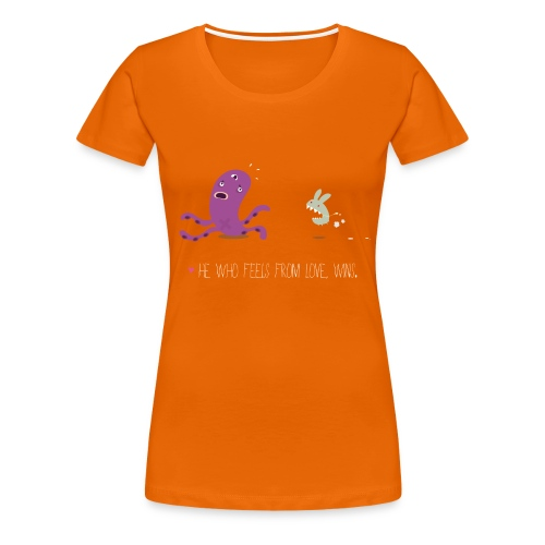 Monsters Lovers Woman Shirt - He who feels from love, wins - Maglietta Premium da donna