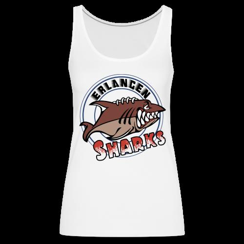 Erlangen Sharks Color Tank-Top (w, weiß) - Frauen Premium Tank Top
