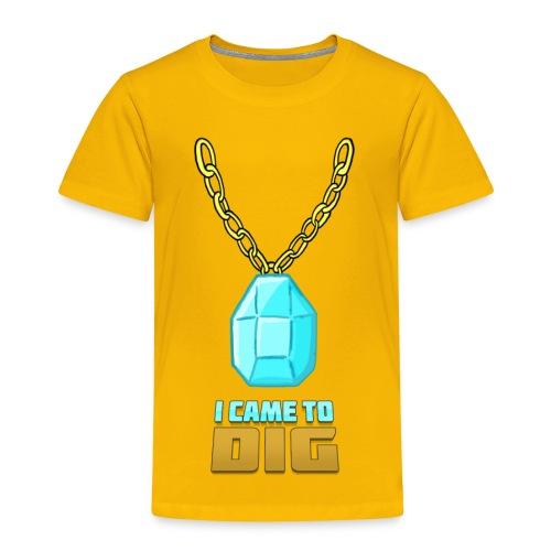 Kid's I CAME TO DIG DIAMOND CHAIN Tee - Kids' Premium T-Shirt