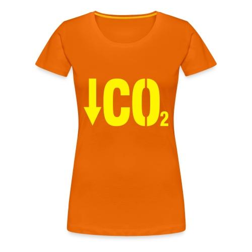 Less C02 - T-shirt Premium Femme