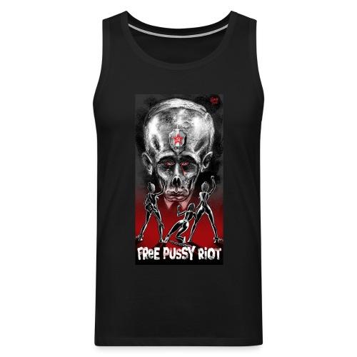 Free Pussy Riot! Fuck Putin! Muskel - Männer Premium Tank Top